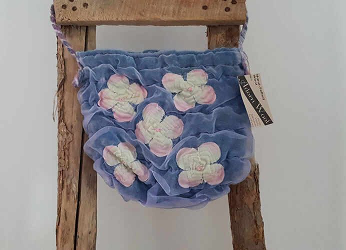 Felt and Chiffon Handbag