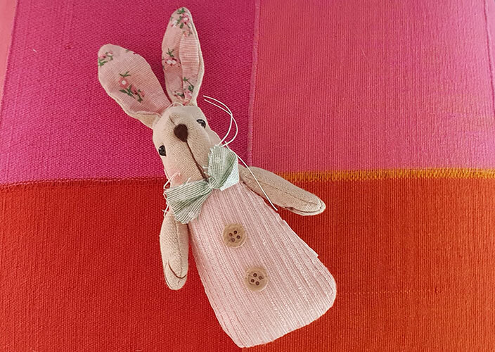 Hand Stitched Baby Bunny