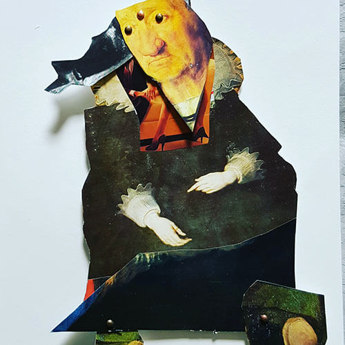 Self Portrait Moveable Collage