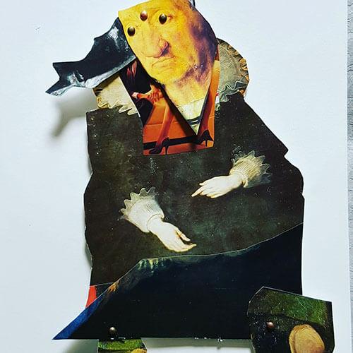 Self Portrait Moveable Collage